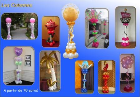 Des colonnes Ballons pour la décoration de salle, Mariage, Séminaire, Conférence, Lancement de produit, Journée portes ouvertes, Soirées et fêtes privées en Ile de France et Seine et Marne.