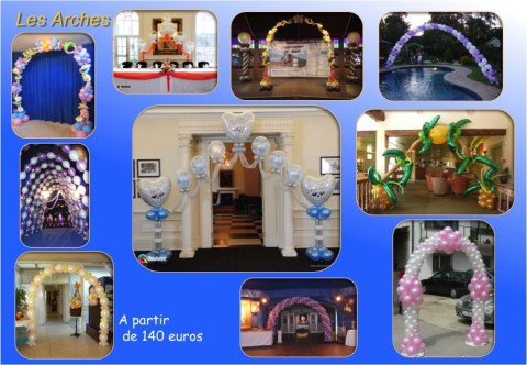 Décoration de salle, Mariage, Séminaire, Conférence, Lancement de produit, Journée portes ouvertes. Décorateur Ballons Ile de France, Seine et Marne et Région Parisienne