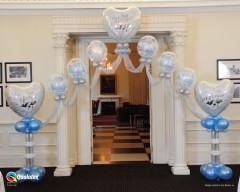 Déco Ballons mariage - superbe Arche d'entrée Hélium- ballons Qualatex