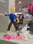 Sculpture sur ballons - Tintin et Milou - déco magasin