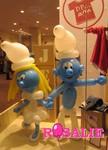 Sculpture sur ballons - Schtroumpfs et Schtroumpfettes