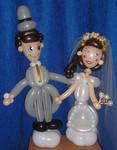 Sculpture sur ballons - Couple mariés