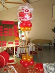 Centre de table Rouge Doré Bubble